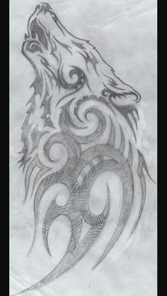 I'm picky with wolf tattoos, especially tribal ones. But I like this Art Drawings Sketches, Animal Drawings, Tattoo Drawings, Cool Drawings, Body Art Tattoos, Tatoos, Tattoo Pics, Drawing Animals, Tattoo Ideas