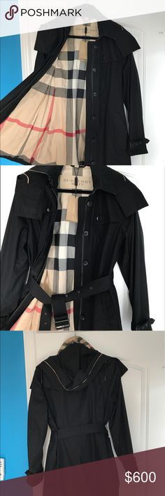 Burberry Trench Coat Beautiful Coat my it was just to small for my mom has never been worn We have the bag and dust bag it came with ! Burberry Jackets & Coats Trench Coats