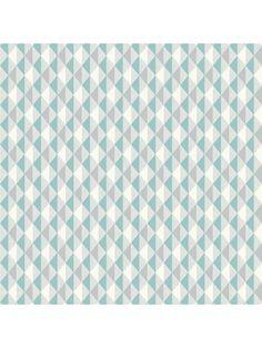 Papier peint petits triangles Harlequin vert / gris - Rasch
