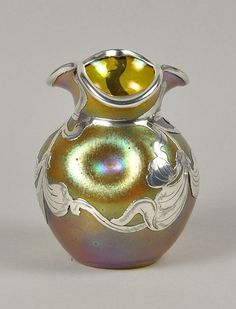 Loetz   Silver Overlay Vase - 1900.