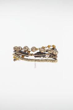 Bracelet femme multirangs anneaux