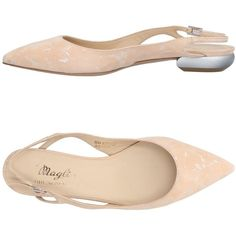 Magli By Bruno Magli Ballet Flats ($330) ❤ liked on Polyvore featuring shoes, flats, beige, leather shoes, ballet shoes, ballet flat shoes, flat shoes and beige flats