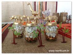 Festa artesanal - Safari Potinhos para guloseimas http://www.casa18.com.br