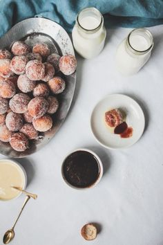 Malasada Style Doughnut Holes with Three Dipping Sauces | The Modern Proper