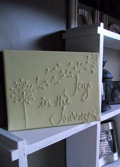 Canvas Wall Art With Glue & Paint. Can change the saying, but love the make a wish type of art.
