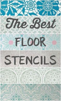 The best floor stencils for stenciling your wood or concrete floors. Plus helpful tips for creating your own stenciled floors. The best floor stencils for stenciling your wood or concrete floors. Plus helpful tips for creating your own stenciled floors. Porch Flooring, Basement Flooring, Diy Flooring, Bathroom Flooring, Kitchen Flooring, Ceramic Flooring, White Flooring, Basement Walls, Laminate Flooring