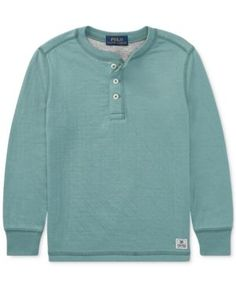 Ralph Lauren Henley T-Shirt, Big Boys (8-20) - Hampton Green XL