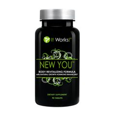 New You™   It Works - Turn back the hands of time from the inside out with New You! This one-of-a-kind longevity formula is designed to stimulate and support the production and release of the body's own human growth hormone.
