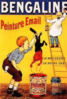 Bengaline, peinture Email, la meilleure, la moins chère !  1905 Eugène Ogé.  Interesting: 'Email' used in a 1905 ad....in use today on the internet for a different reason!