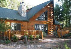 www.GoldenEagleLogHomes.com  #loghomes #loghome #logcabins #cabin #logcabins #home #homes #houzz #rusticliving #outdoors #nature #loghomeliving #construction