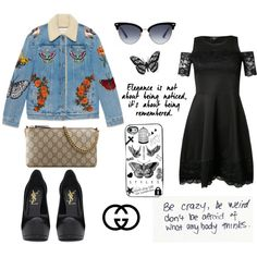 How To Wear Gucci inspired by Harry's tattoos Outfit Idea 2017 - Fashion Trends Ready To Wear For Plus Size, Curvy Women Over 20, 30, 40, 50