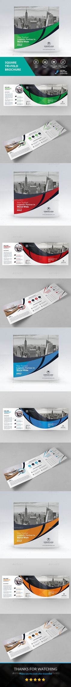 Square Tri-fold Brochure - Brochures Print Templates Download here : https://graphicriver.net/item/square-trifold-brochure/19276753?s_rank=111&ref=Al-fatih