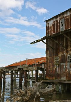 Weathered the Florida sun and rain, some of the buildings in old Apalach have the patina of time.