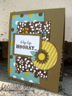 Creative Itch: 'Hip Hip Hooray' {Birthday Card}