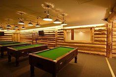 Nice pool table and room/hall