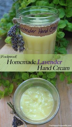 Easy Tutorial for Homemade Lavender Hand Cream | The Happy Housewife