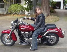 Guys, wanna meet this tough biker lady? Click her picture, join our biker community and meet her.