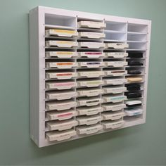 Ink pad organizer for Stampin Up from Organizemore.                                                                                                                                                     More