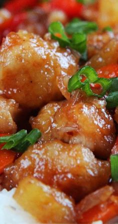 ... sweet and sour chicken pineapple and peppers baked sweet and sour