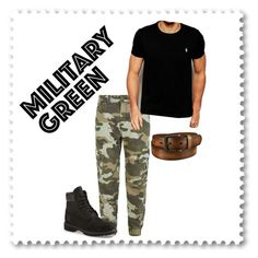 Military Green by deveeka on Polyvore featuring polyvore Polo Ralph Lauren True Religion Timberland Uniqlo men's fashion menswear clothing
