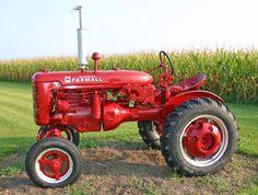Tractors are red. Farmall.