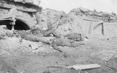 British soldiers lying dead behind their defence line on the Somme battlefield. Photo by a German military photographer. The Battle of the Somme is famous chiefly on account of the loss of 58,000 British troops (one third of them killed) on the first day of the battle, 1 July 1916, which to this day remains a one-day record. In all, there were 420,000 estimated British casualties, plus a further 200,000 French casualties.German casualties were estimated to run at around 500,000.