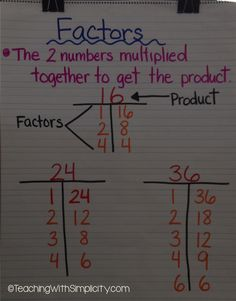 Teaching factors with the t-chart.