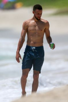Stephen Curry Goes Shirtless For a Beach Day With Ayesha, and We Are All So Blessed