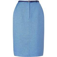 Eastex Basket Weave Casual Skirt (3.650 RUB) via Polyvore featuring skirts, blue, clearance, tulip skirt, eastex и blue skirt