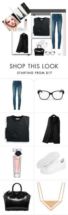 """Untitled #984"" by flady ❤ liked on Polyvore featuring Yves Saint Laurent, Christian Dior, Blair, Alexander Wang, Lancôme, Prada, GINTA, adidas Originals, Givenchy and Allurez"