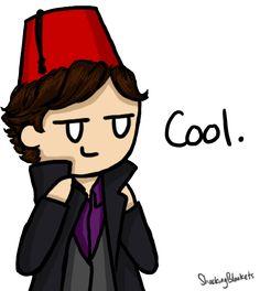 Sherlock in fez Sherlock Holmes, Sherlock Fandom, Martin Freeman, Benedict Cumberbatch, Sherlock Cartoon, Funny Sherlock, Sherlolly, Broadchurch, 221b Baker Street