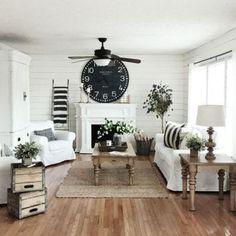 Rustic Farmhouse Living Room Decor Ideas 43