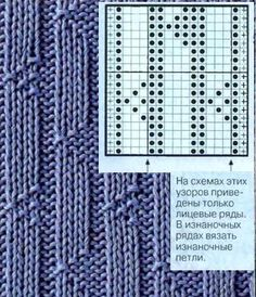 Rigtigt og forkert (Part One) - Strikning - hjemme Moms Knitting Paterns, Knitting Charts, Loom Knitting, Knitting Stitches, Knit Patterns, Stitch Patterns, Sewing Machine Quilting, Knitting Magazine, Lace Design