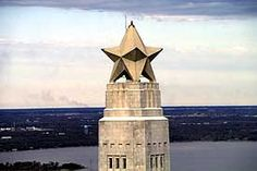 the star on the San Jacinto Monument -- tribute to the battle of independence!!!