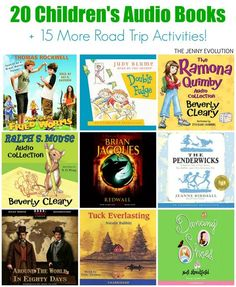 20 Captivating Children Audio Books for Road Trips - The whole family will love these.