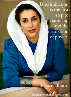 The Eloquent Woman: Famous Speech Friday: Benazir Bhutto at the UN Conference on Women. Click through to read more about this famous speech.