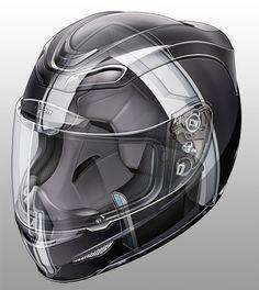 ICON Airmada Helmet Illustrations - Technical Illustration - Jim Hatch Illustration