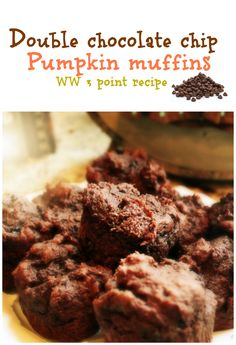 #Pumpkin double chocolate chip #muffins. #weightwatchers 3 points