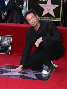 David Duchovny honoured with Star on the Hollywood Walk Of Fame, January 25, 2016 250413