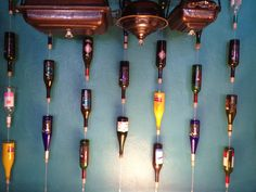 Wall Art with wine bottles
