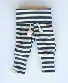 Charcoal & White Stripe Skinny Sweats / Gender by SimpleSawyer
