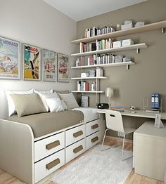 Soft Color Comfortable kids Study Room by Sergi Mengot