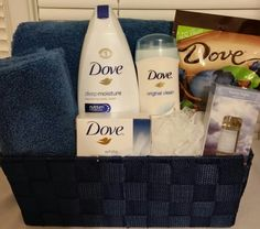 Dove gift basket for her