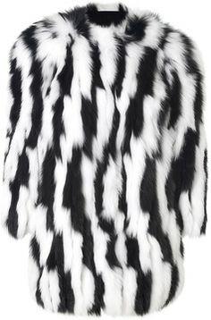 Hockley Fox Fur Gloriosa Coat in Black/White on shopstyle.com