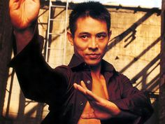 Jet Li with an open purple shirt. :)