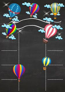 Formato de chalkboard con tema de globos Blackboard format with balloon theme Eid Crafts, Diy And Crafts, Chalkboard Template, Blackboard Art, Baby Girl Quotes, Chalkboard Background, Baptism Party, Baby Shower Balloons, Baby Scrapbook
