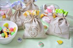How to Sew simple Drawstring Bunny Bag. Tutorial & Pattern