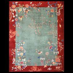 Chinese - Art Deco Rugs   Circa: 1930 #Chinese #ArtDeco #rug #21862