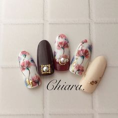 flower. nails♡ Instagram → yochan4.nail #YokoShikata♡キアラ #ネイルブック