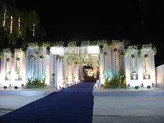 Design and Decor - Elegant Events & Weddings Wedding Gate, Wedding Entrance, Backdrop Wedding, Entrance Decor, Garland Wedding, Wedding Reception, Marriage Decoration, Wedding Stage Decorations, Entry Gates